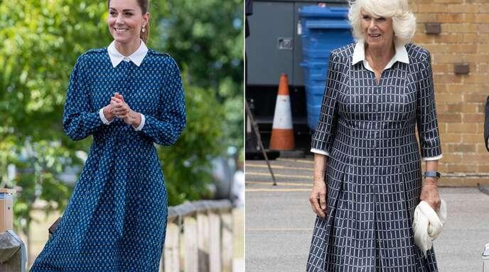 Zwei Royals, ein Look: Herzogin Kate (links) und Herzogin Camilla scheinen einen ähnlichen Geschmack zu haben.
