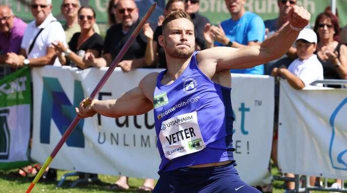 Johannes Vetter peilt seinen zweiten deutschen Meistertitel an.