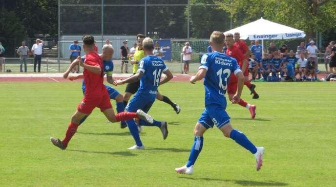 Die Stuttgarter Kickers gewinnen mit 2:1 gegen Ingolstadt II.