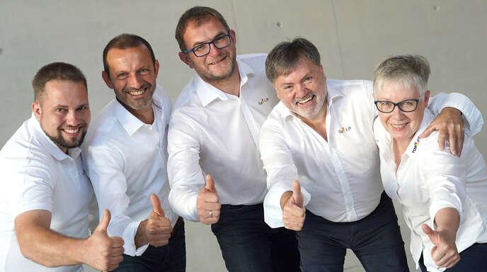 Alexander Benz (von links), Michel Roche, Thomas Kasper, Erhard Benz und Erika Benz stehen an der Spitze des Top-Life.