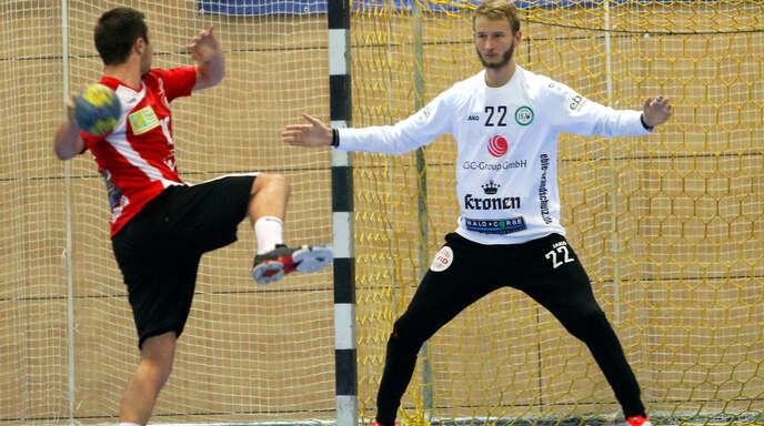 HGW-Torwart Dominik Merz, vor der Saison von der SG Köndringen/Teningen gekommen, zeigte eine starke Partie.