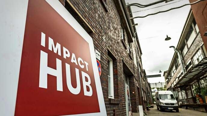Der Standort des Impact Hub auf einem unter Nachhaltigkeitskriterien umgewidmeten alten Industriegelände in Stuttgart ist Programm.