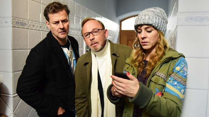 Die Ermittler: Marcus Mittermeier (li), Alexander Held, Bernadette Heerwagen