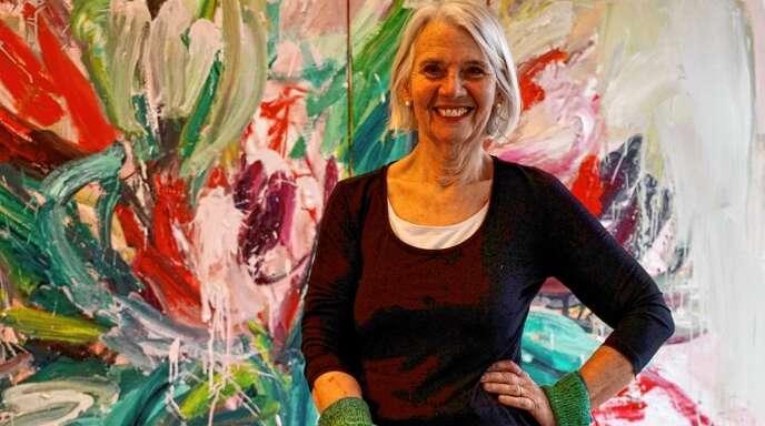 Temperamentvoll wie ihre ausdrucksstarke Malerei: Künstlerin Gabi Streile.
