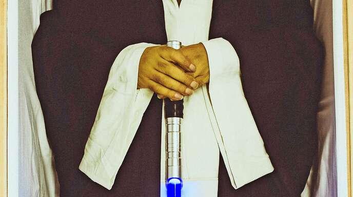 Das Laserschwert des Jedi-Ritters Obi-Wan Kenobi als Grabbeigabe