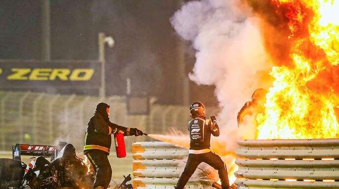 Romain Grosjeans Flucht aus dem Flammen-Inferno