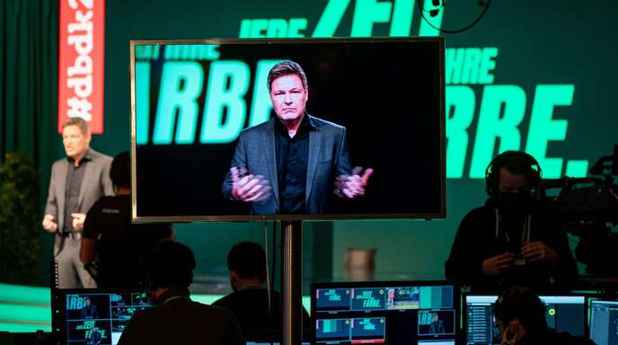 Der Parteitag der Grünen in Berlin wird aus Infektionsschutzgründen digital abgehalten.