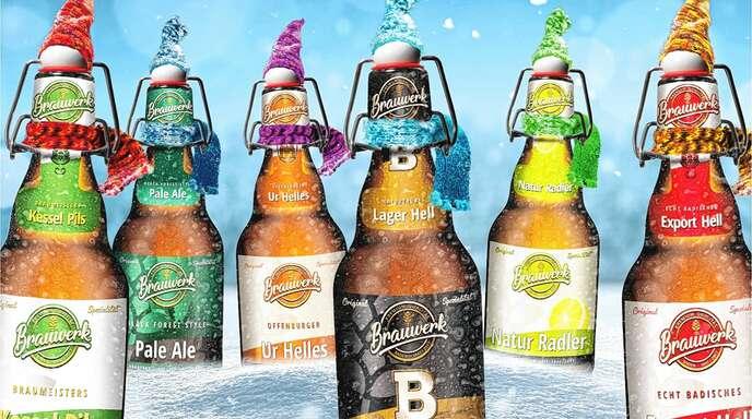 Schmecken auch eiskalt im Winter: Die Biere des Brauwerks Baden.