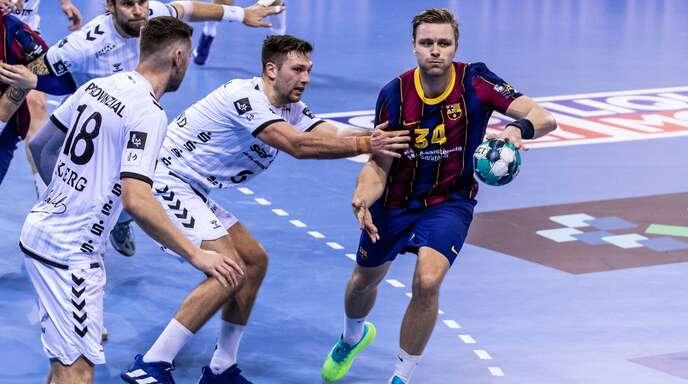 Der isländische Ausnahme-Handballer Aron Palmarsson im Dress des FC Barcelona im Spiel gegen den THW Kiel: Beim Final Four in Köln könnten beide Teams im Finale aufeinandertreffen.