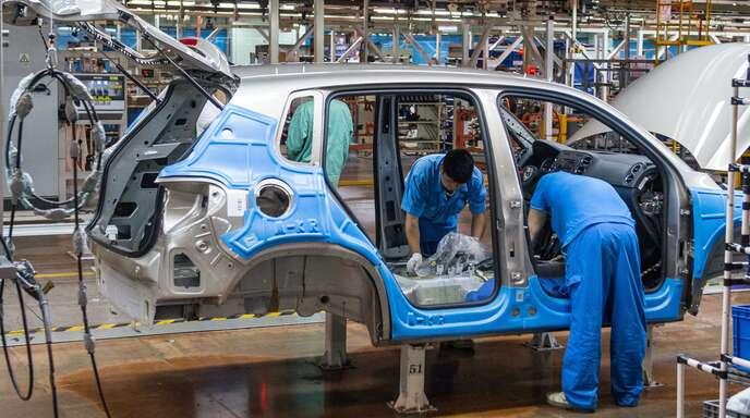 Die Produktion bei VW in Shanghai läuft – wie auch bei anderen deutschen Firmen.