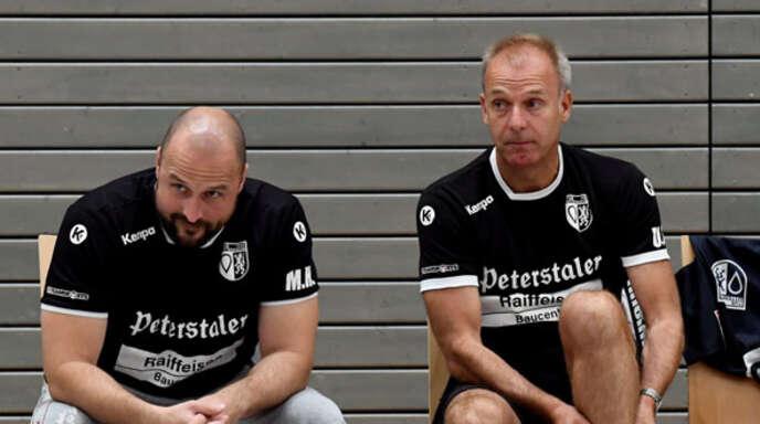 Markus Heimburger (l.) und Ulf Seefeldt hören am Saisonende beim TuS Ottenheim auf.