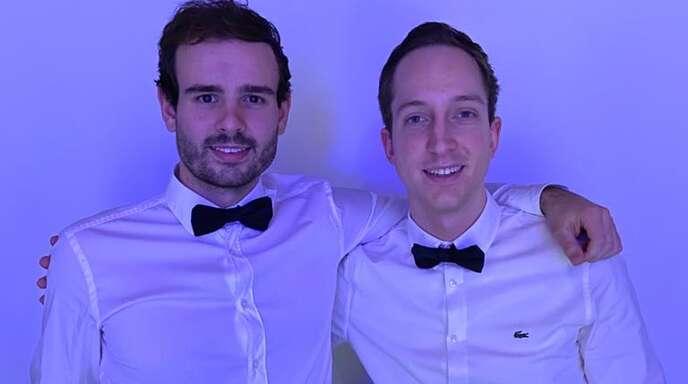 Jochen Remmel (l.) und David Monschein initiierten eine außergewöhnliche Silvester-Aktion.