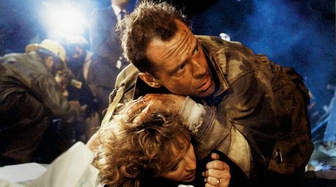 """Bruce Willis und Bonnie Bedelia im Klassiker """"Stirb langsam"""": Disney+ bietet jetzt auch solche Actionkracher."""