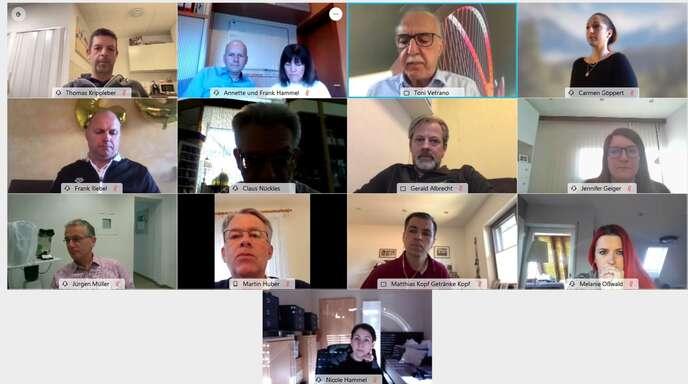 OB Toni Vetrano sprach per Zoom-Konferenz mit Kehler Einzelhändlern.