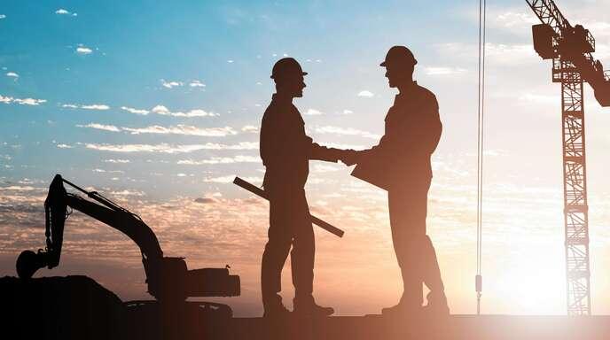 Arbeiten im Team: Auf den Rendler-Baustellen wird Hand in Hand gearbeitet.