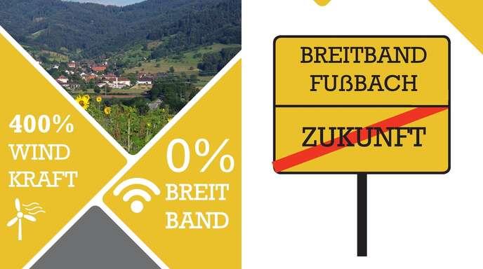 Dieser Flyer liegt der Stadt samt 298 Unterschriften für schnelles Internet in Fußbach vor.