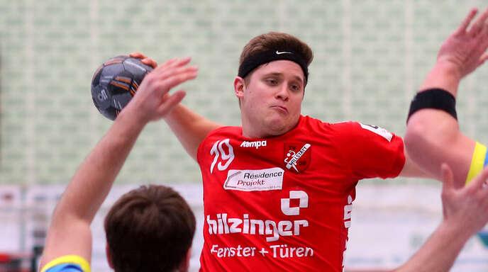 Willstätts Rückraumspieler Alexander Velz machte in Dansenberg ein ganz starkes Spiel und erzielte neun Tore.