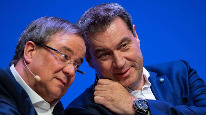 Welcher der beiden Kandidaten wäre den Offenburger CDU-Politikern am liebsten für die Kanzlerkandidatur: Armin Laschet (links) oder Markus Söder? Das OT hat nachgefragt.
