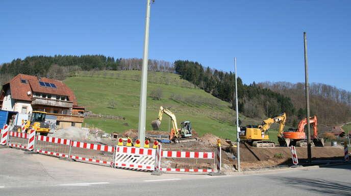 Das Baugebiet Allmend II in Welschensteinach wird derzeit erschlossen