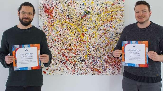 """Die Idee für das Projekt """"Einzigartige Südoststadt"""" hatten Gemeinwesenarbeiter David Ockenfuß und Gesamtleiter Patrick Rotter des SFZ Oststadt."""