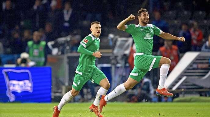 Feiert sich – wie so oft – hoch verdient: Claudio Pizarro.