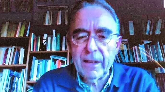 Vicente Riesgo, Präsident der Spanischen Weiterbildungsakademie AEF bei der Online-Diskussion zur Internationalen Woche gegen Rassismus.
