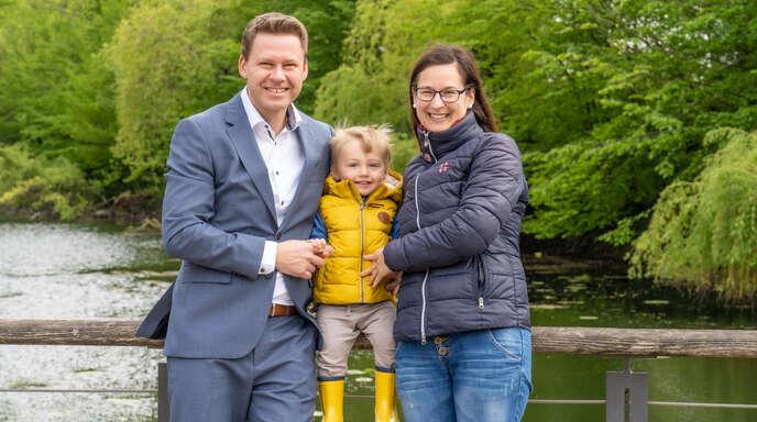 Marcus Kröckel zieht mit Lebensgefährtin Rebekka Scharf und Sohn Carl-Friedrich zurück nach Braunschweig.