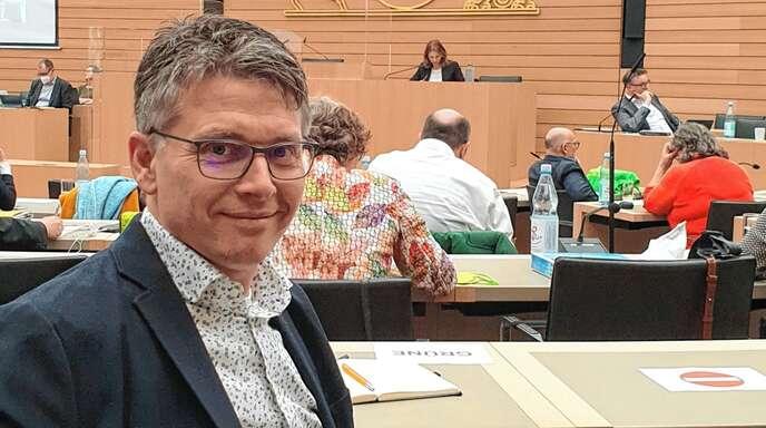 Noch ungewohnt ist für Bernd Mettenleiter die Arbeit im Landtag in Stuttgart.