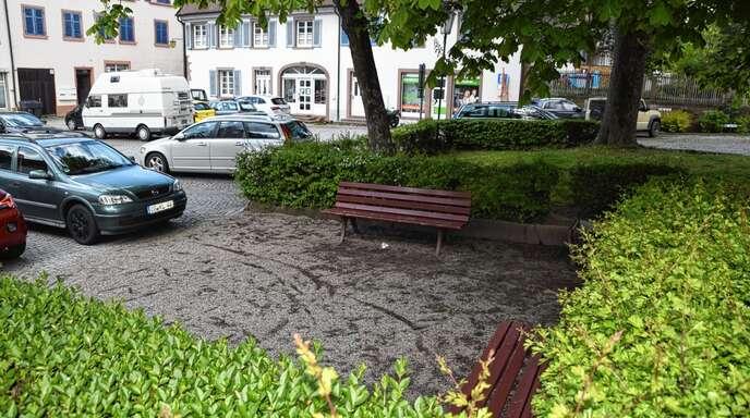 In der Nähe des Handwerkerbrunnens auf dem Gengenbacher Klosterhof werden die Stadtwerke eine Ladestation für elektrisch betriebene Fahrräder installieren.