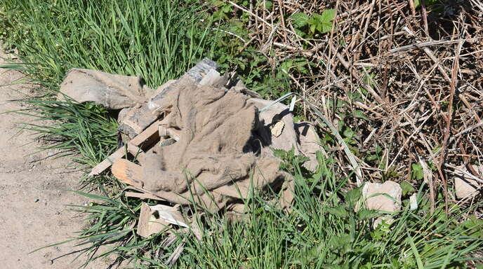 Illegal entsorgter Bauschutt (wie auf diesem Foto) oder anderer Müll – das ist inzwischen auch am Industriepark Willstätt gemeldet worden.