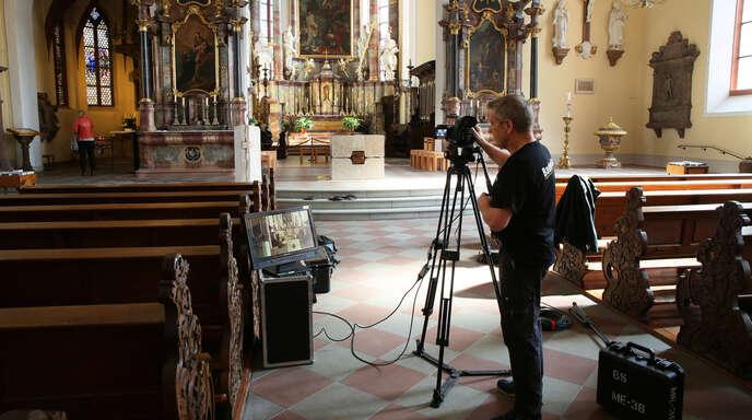 Die Kirche hat rasch reagiert: Gleich nach dem Lockdown hat sie sich im vergangenen Jahr auf virtuelle Gottesdienste vorbereitet – hier in der Heilig-Kreuz-Kirche in Offenburg. Diese neuen Formate werden teilweise bleiben.