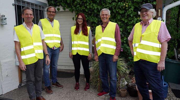 """Die Initiativgruppe """"Sauberes und buntes Kehl"""" (von links): Ulf Behringer, Laura Caferra, Klaus Gras, Norbert Klem und Karl O. Roth."""