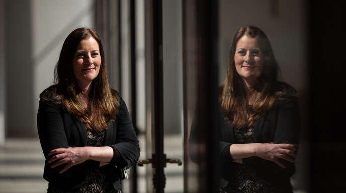 """Janine Wissler, die Vorsitzender der Linkspartei, verfolgt die """"Vision einer grundsätzlich anderen Gesellschaft""""."""