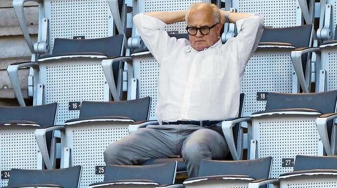 Um DFB-Präsident Fritz Keller wird es einsam.