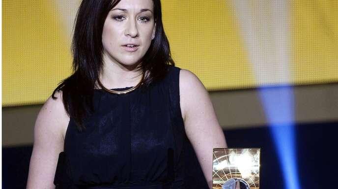 Als Kandidatin im Gespräch: Nadine Keßler wurde 2014 zur Weltfußballerin gewählt.