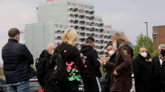 Impfen im Hotspot: Szene aus Köln-Chorweiler