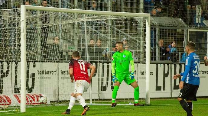 Im Oktober 2019 gab es schon einmal ein Aufeinandertreffen zwischen den Stuttgarter Kickers und der TSG Balingen im WFV-Pokal – die Balinger gewannen im Elfmeterschießen mit 6:5.