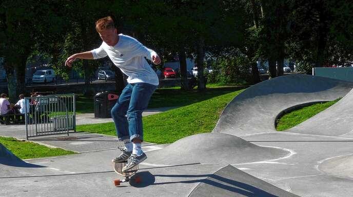 """Haver Skatepark: Am Skatepark wird nicht nur Sport betrieben. In den Abendstunden kommt es dort auch zu Pöbeleien und """"antisozialem"""" Verhalten von Jugendlichen."""
