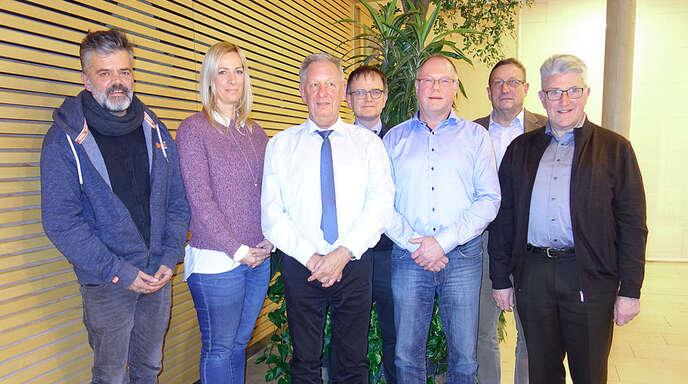 Der Vorstand der Parkinson-Hilfe (von links): Armin Matt, Sandra Schulz, Bernd Wolk, Peter Ludwig, Dietmar Deger, Gustav Geiger und Franz Schmalz.