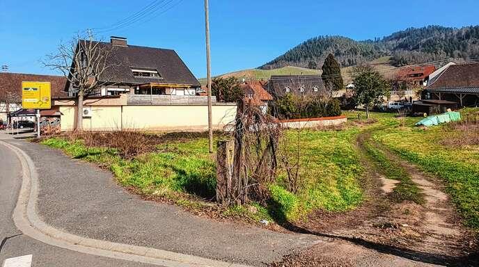 """Auf diesem Grundstück entstehen in Ortenberg drei Wohnhäuser. Die Straßenbezeichnung wird """"Kanzleihof"""" lauten. Das beschloss der Gemeinderat mehrheitlich."""
