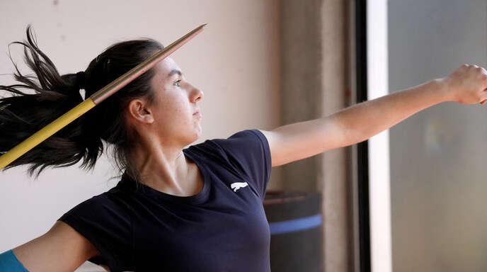 Lorena Frühn (LG Offenburg) warf in Straßburg gute 45 Meter.