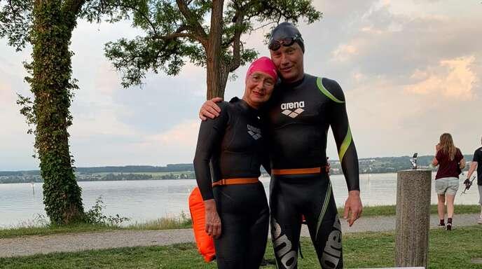 """Bei den """"Bodensee Open Water"""" dominierten Andreas und Nicola Fath in ihren Altersklassen."""