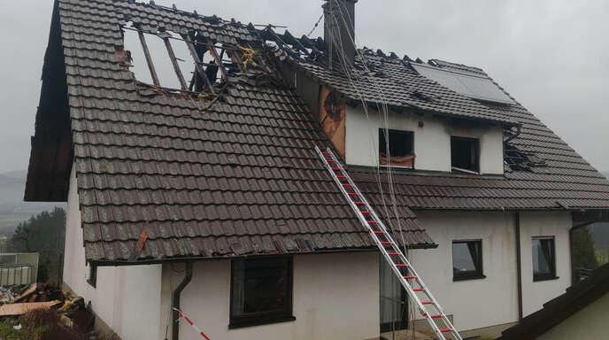 Das Wohnhaus der Familie Vogt wurde ein Raub der Flammen...