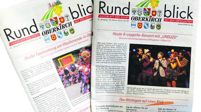 """Das Oberkircher Amtsblagtt """"Rundblick"""" wird weiter nur an die Abonnenten verteilt."""