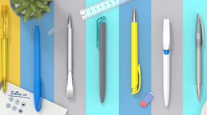 Egal in welcher Farbe und Form: Klio-Eterna-Schreibgeräte sind die passenden Werbeträger zur firmenübergreifenden Unternehmenskommunikation.