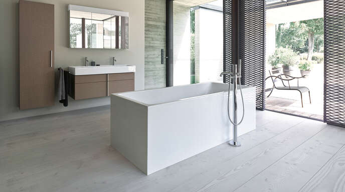 Egal ob puristisch oder opulent - Krämer Haustechnik setzt die individuellen Wünsche der Kunden bei der Badgestaltung um.