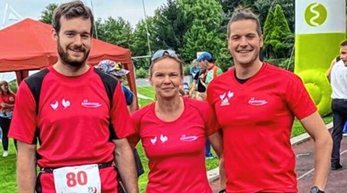 Das erfolgreiche Trio der LG Brandenkopf (v. l.): Pirmin Kienzle, Anke Hermsdorf und Stefan Kienzle.