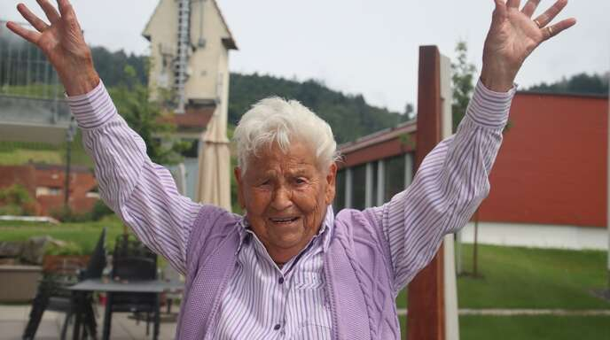 Luise Wiegele feiert heute ihren 100. Geburtstag. In Ortenberg gilt sie als Original.
