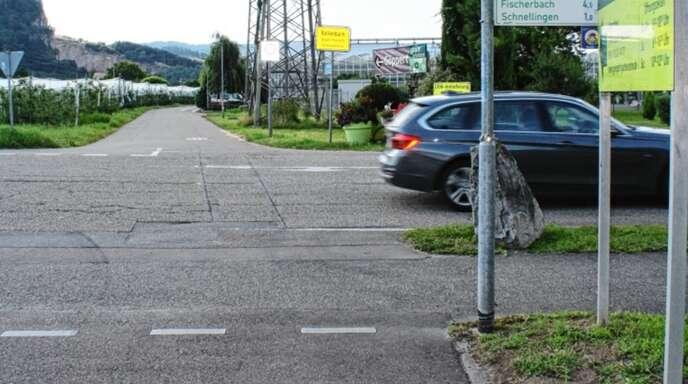 Hier hätte sich der Bollenbacher Ortschaftsrat einen roten Streifenzur Sicherheit für Radfahrer und Fußgänger vorstellen können.