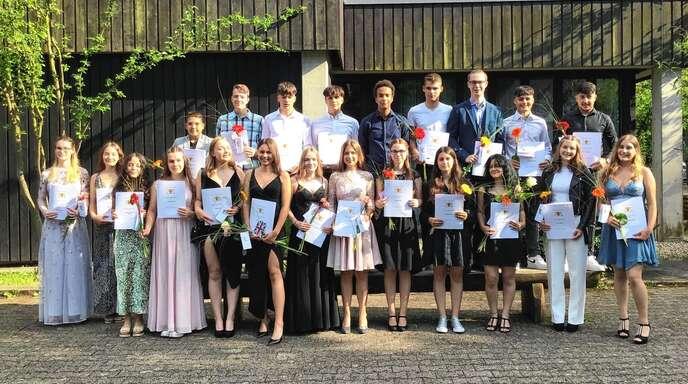 Abschluss an der Realschule Wolfach: Die Klasse 10a.